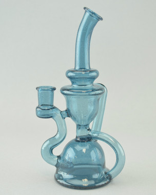 STAKLO - Recycler Rig w/ 14mm Female Joint - Blue Stardust