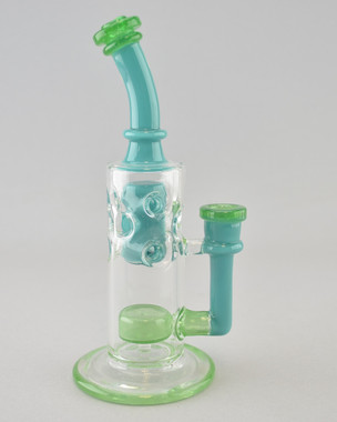 BIG J - Straight Fab Rig w/ Geometric Perc & 14mm Female Joint - #1