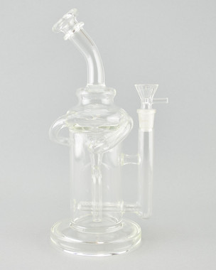 BARE - Inline Wishbone Recycler Rig w/ 14mm Female Joint & Slide