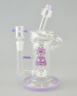 AFM - Matrix Recycler Rig w/ 14mm Female Joint & Slide - Lavender
