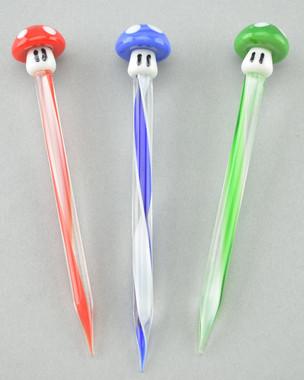 RODZ - Glass 1UP Mushroom Dabber (Pick Your Color)