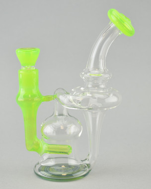 SCHMALEX -  Recycler Rig w/ 14mm Female Joint & Slide - Slyme