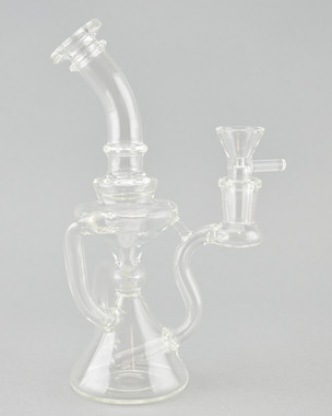 BARE - Hourglass Recycler Rig w/ 14mm Female Joint
