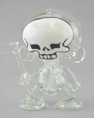 """COYLE x O'RY Collab - Skull-face """"Munny"""" Vapor Rig w/ 14mm Slide, Dish, and Reaper Dabber"""