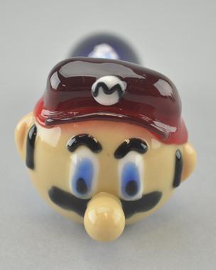 "CHAMELEON - ""Mario"" Spoon Pipe w/ Single Hole Push Bowl & Carb"