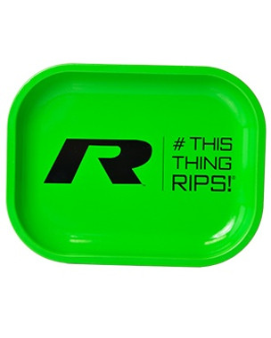 #THISTHINGRIPS - Metal Rolling Tray - Green