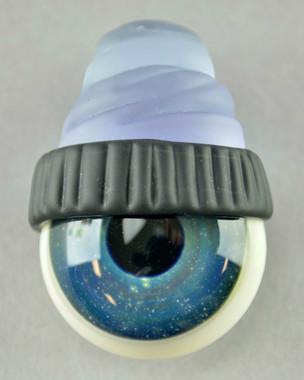 JUNKIE - Eyeball Pendant with Black & Purple Beanie
