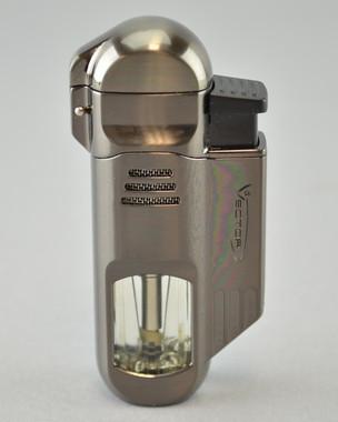 VECTOR - Torpedo Quadruple Flame Torch Lighter - Gunmetal