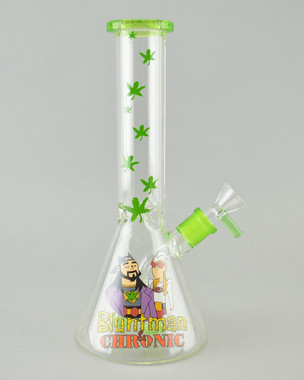 JAY AND SILENT BOB - Bluntman and Chronic Beaker Bong w/ 14mm Female Joint & Slide