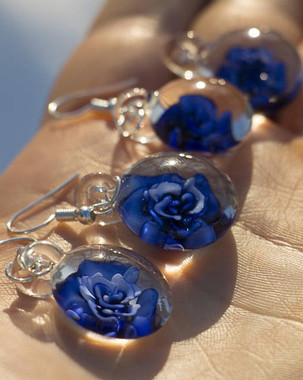 BOURGEOIS - Glass Flower Implosion Earrings