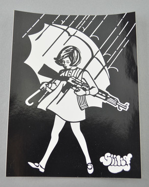 SLINGER - Signature Assault Girl Sticker