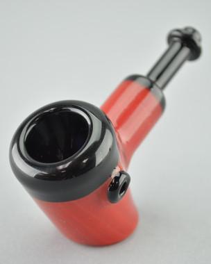 AFM - Glass Pocket Cob Hammer Pipe - Red