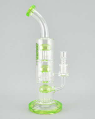 AFM - Triple Chamber Tree Perc Tube w/ 14mm Female Joint & Slide - Slyme