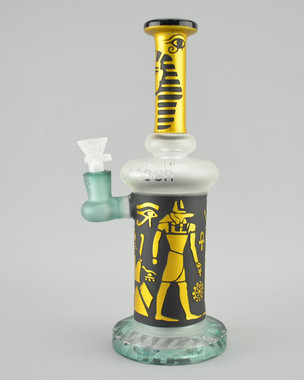 CHEECH - Gods of Egypt Bubbler w/ 14mm Female Joint & Slide - Teal