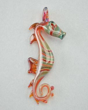CAPE - Glass Seahorse Pendant - #4
