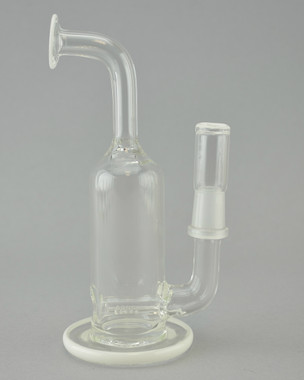 DOMER - Mini Stemline Dab Rig w/ 14mm Male Joint & Dome - White
