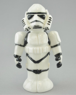 "TAMMY BALLER - ""Storm Trooper from Star Wars"" Vapor Rig w/ 14mm Fixed 2-hole Diffy & Dome"