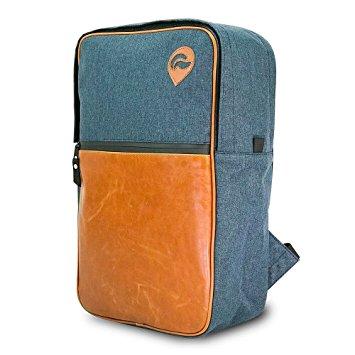 Skunk Urban Backpack - Navy w/ Leather