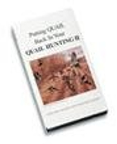 DVD - Putting Quail Back in Your Quail Hunting