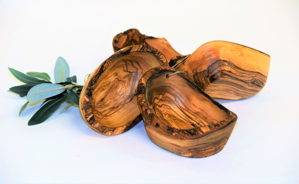 Olive Wood Rustic Bowl 4pc Set