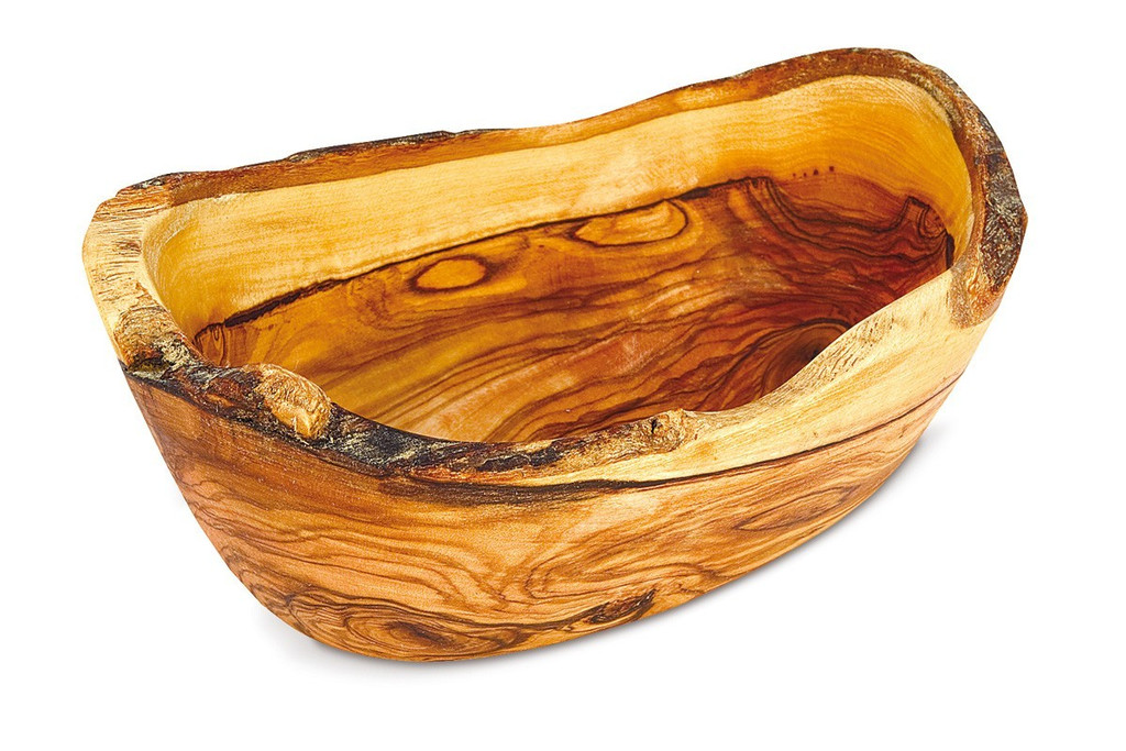 Olive Wood Large Rustic Bowl