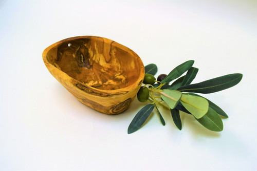 Olive Wood Small Rustic Bowl