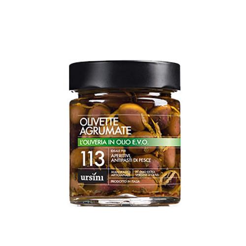 Black Olives with Citrus in Olive Oil