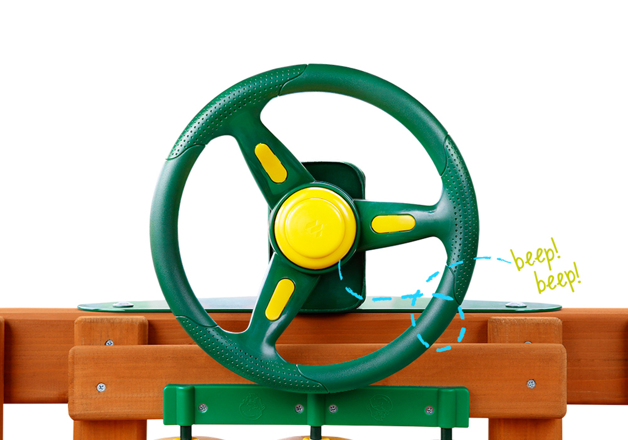 Front view of Rally Racing Wheel with working horn from PlayNation.