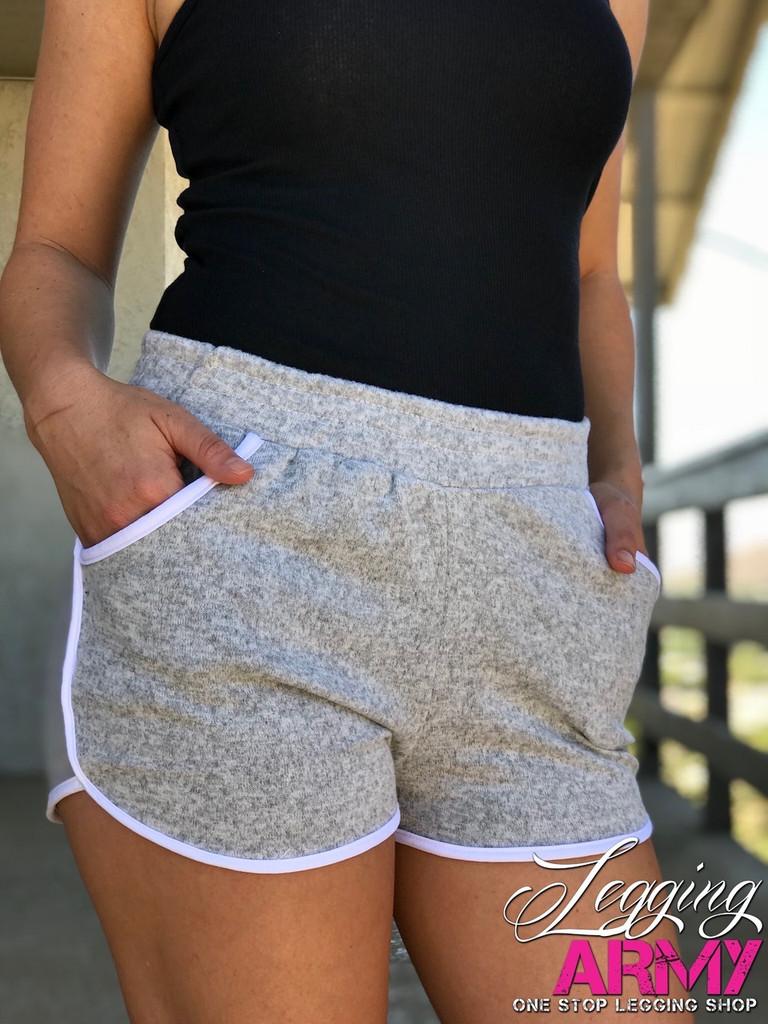 6236afef395990 Shorts With Pockets- Light Grey - Legging Army