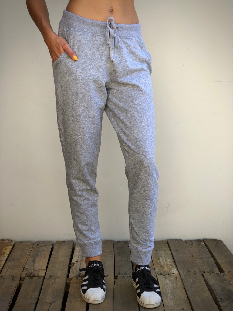 Cotton Joggers- Heather Grey