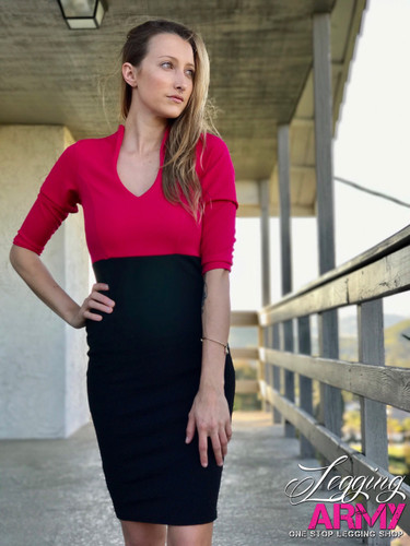 Pencil Dress- Miss Independent Fuchsia