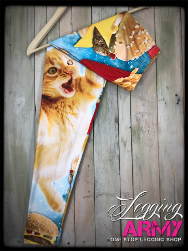 Plus Size Sublimation- Cats'up on my Burger