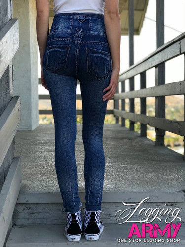One Size Jeggings- Snapdragon