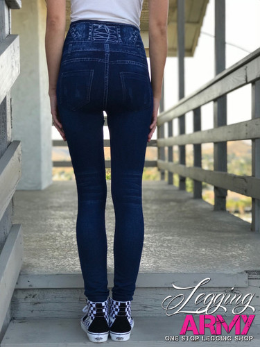 One Size Jeggings- Daisy