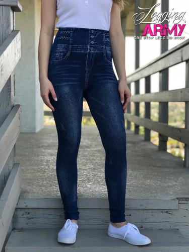 One Size Jeggings- Dandelion