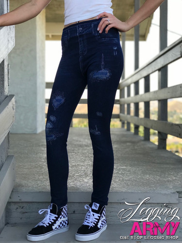 One Size Jeggings- Sunflower