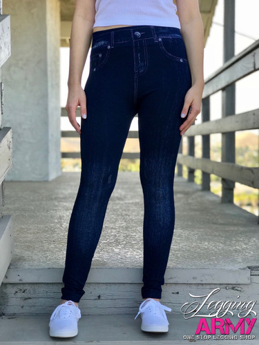 One Size Jeggings- Peony