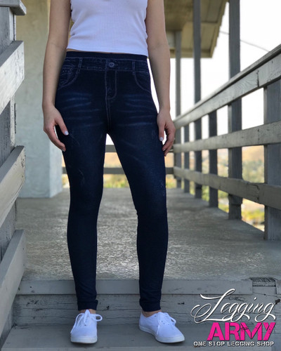 One Size Jeggings- Ivy