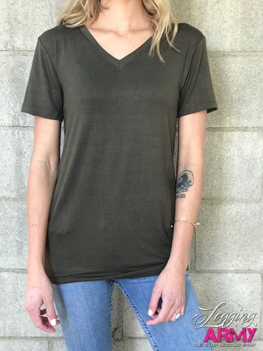 PS Birch V-Neck- Olive
