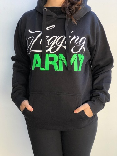 Legging Army Official  Sweatshirt- Black & Green