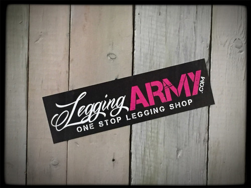 Legging Army Sticker Black 7'' x 2'' Vinyl High Gloss Stickers