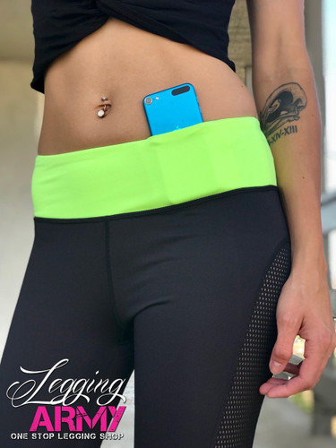 Active Wear- Dashing: Black and Green