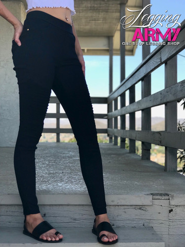 Premium Jeggings- Diamond: Black