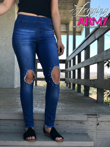 Premium Jeggings- Pearl