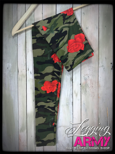 Plus Size- Army of Roses