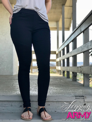 Premium Jeggings- Diamond: Navy