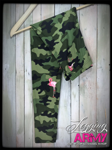 Plus Size- Armed and Flocked (ARMY)