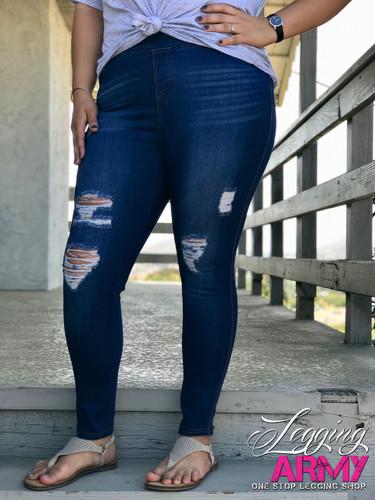 Plus Size Premium Jeggings- Lavish
