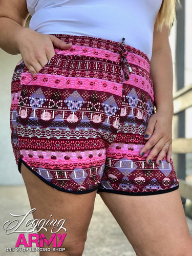 Plus Size Shorts- Diamond in The Rough