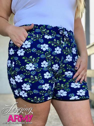 Plus Size Shorts- June Bloom
